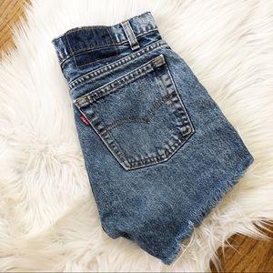 Vintage Levi's High Waisted Mom Cutoff Shorts